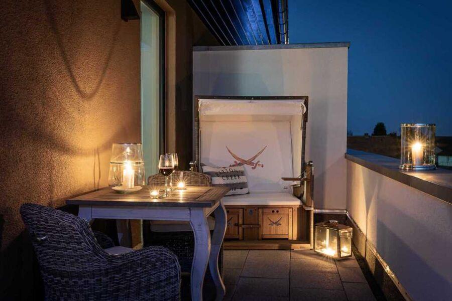 Abendstimmung auf der Dachterrasse