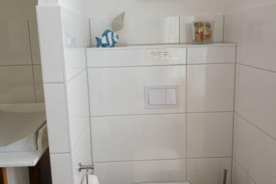 Toilettenbereich im Bad