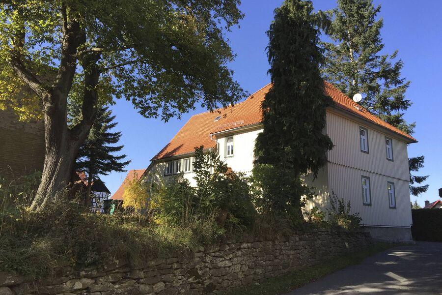 Blick aufs alte Pfarrhaus