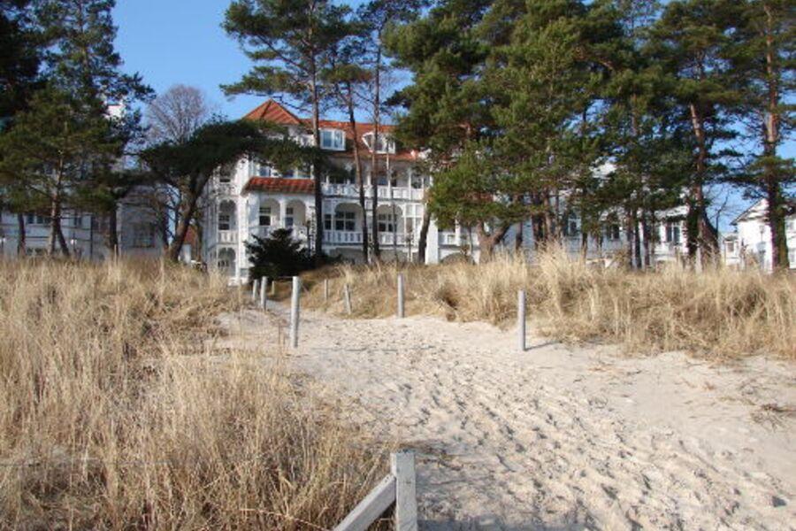 Villa Strandidyll aus Richtung Strand