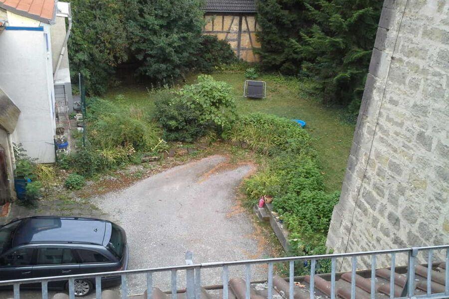 Innenhof der Ferienwohnung an der romantischen Sta