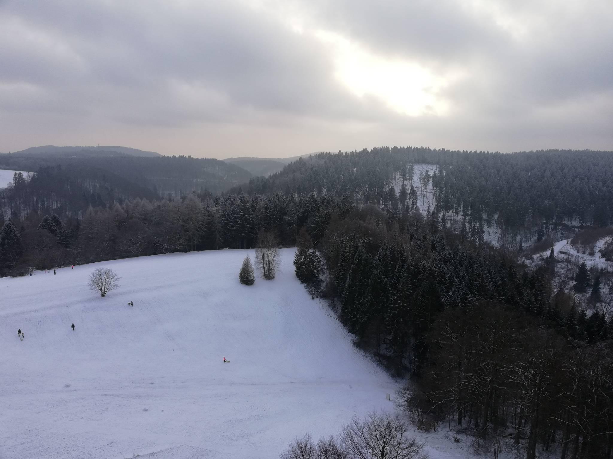 Blick vom Balkon im Winter