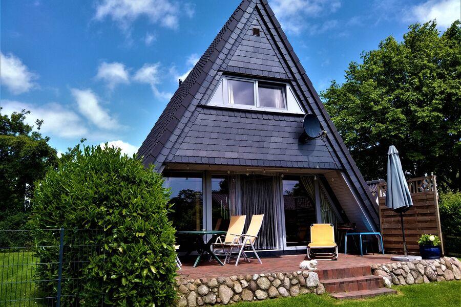 Zeltdachhaus Terrasse