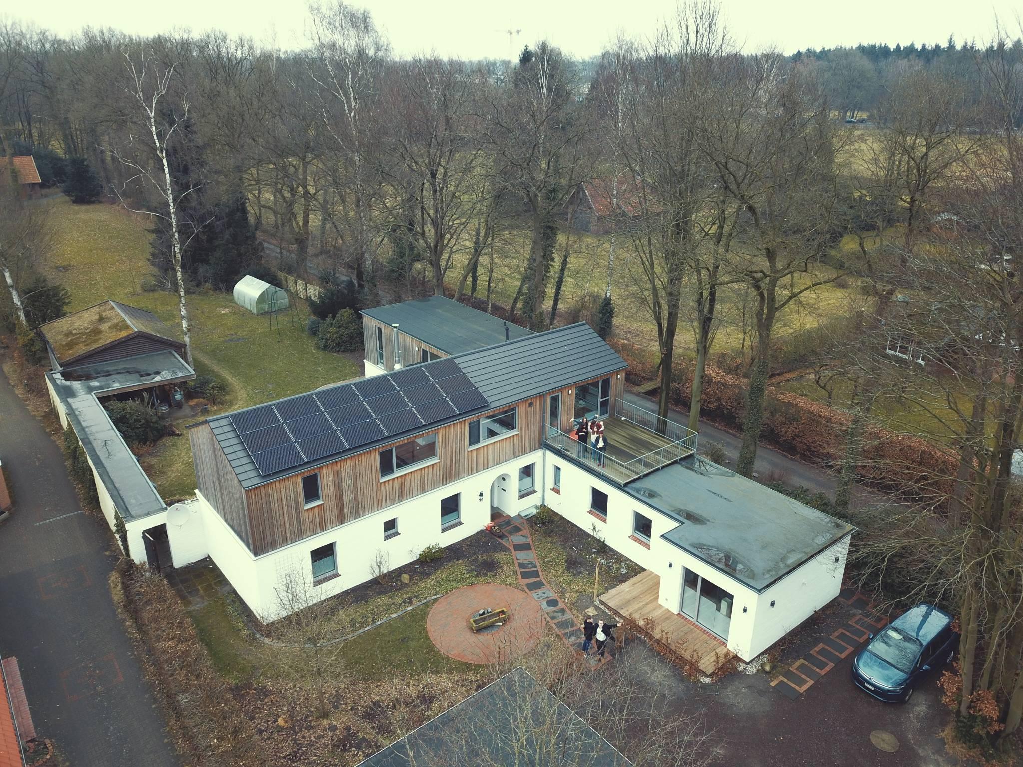 Unser Haus von oben
