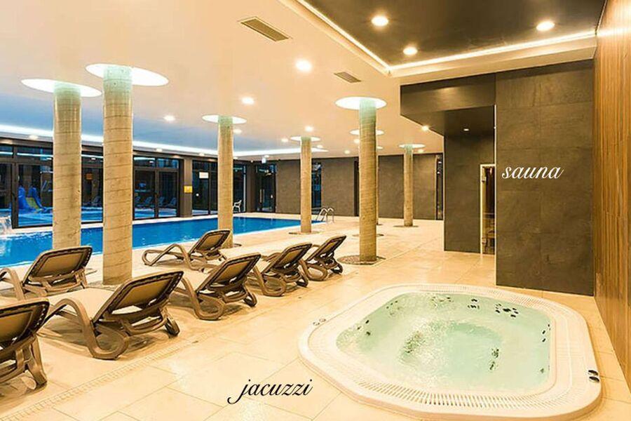 Jacuzzi, Sauna,Pool vor Ort