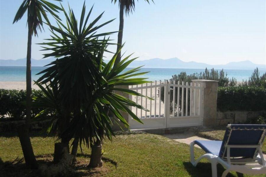 Garten mit Strand