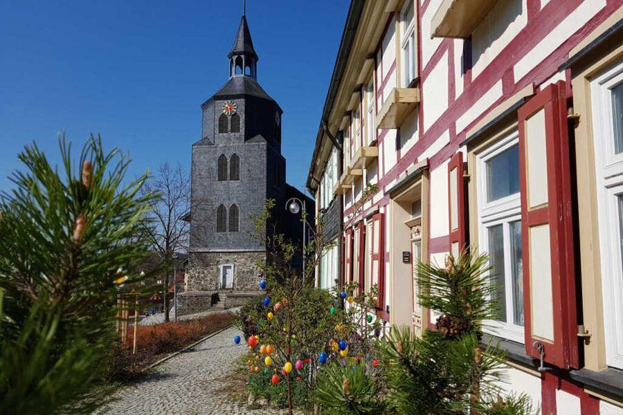 Ferienhaus direkt an der schönen St. Laurentius-Ki