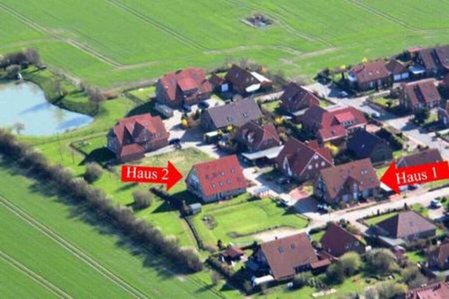 Luftaufnahme Lage der Häuser