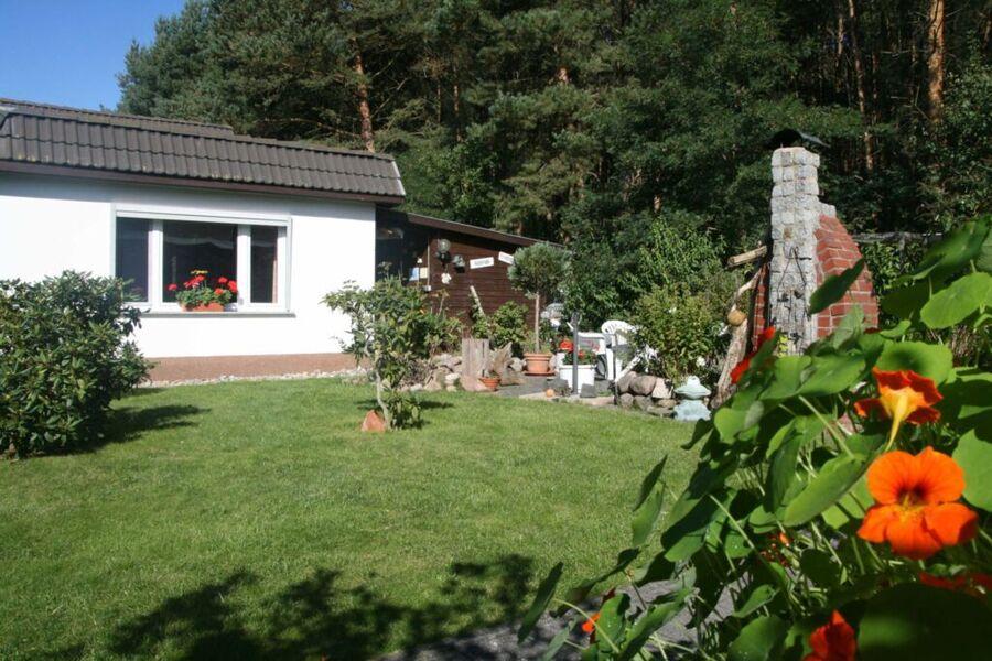 Gartenansichten 2-Raum-Ferienhaus (70m², max. 4 Pe