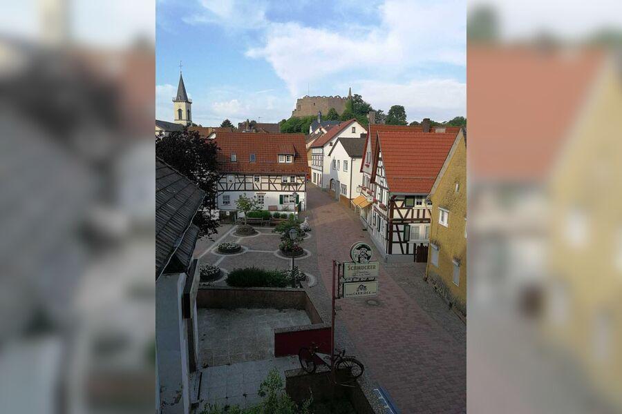 Blick von der Wohnung auf die Burg