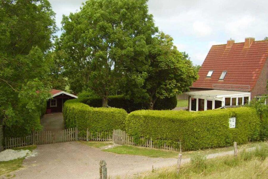 Blick vom Vordeich aufs Haus