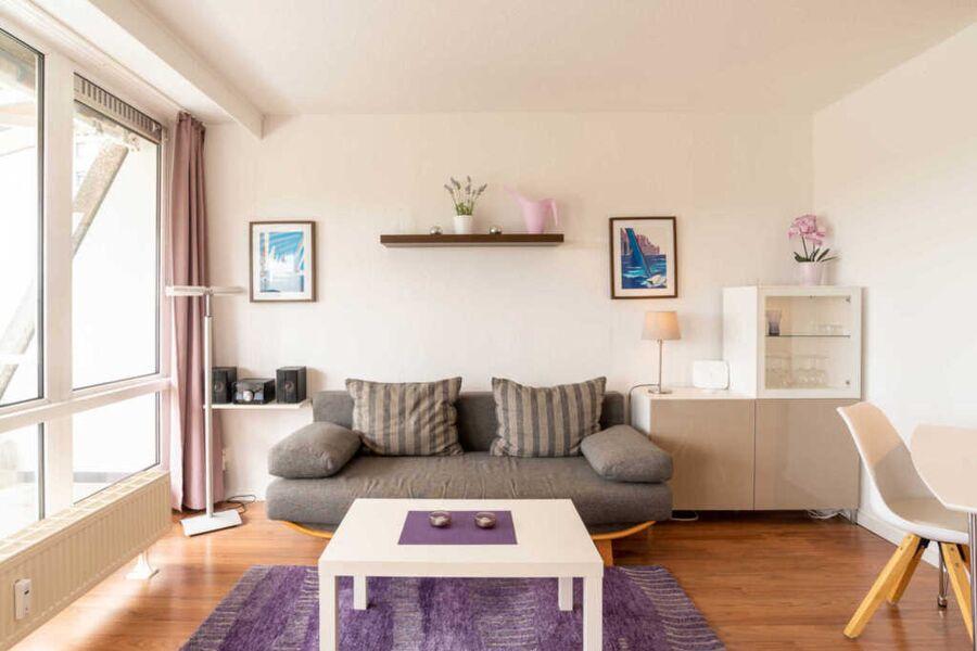Ferienwohnung Oberdeck Wohnzimmer