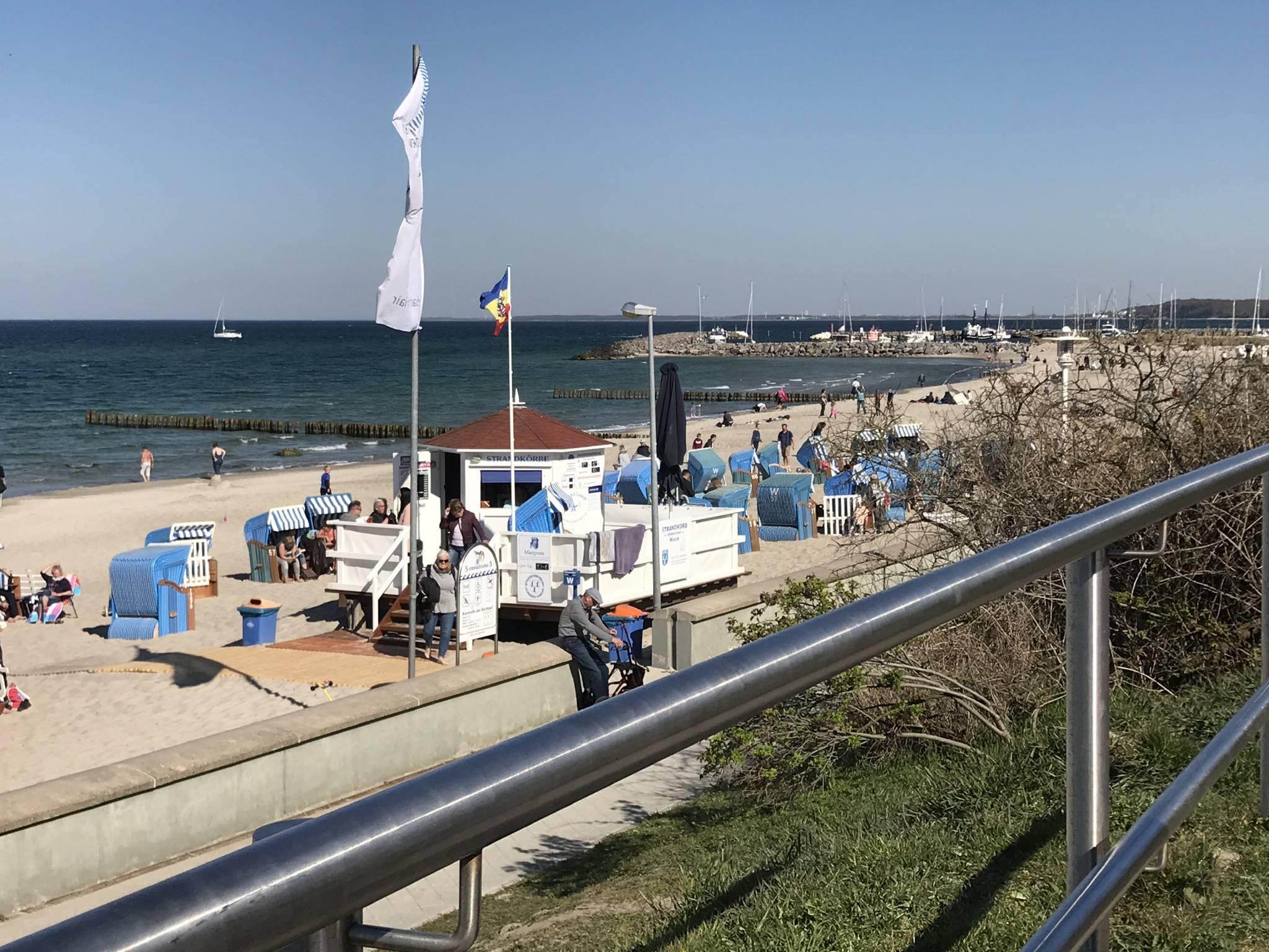 Strand am Yachthafen