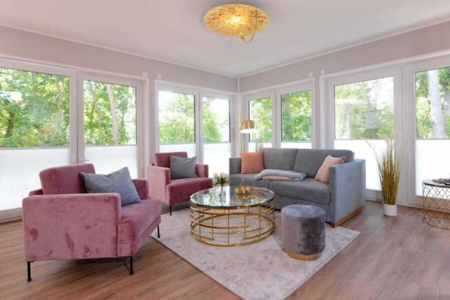 Strandvilla Gezeiten App. Goldrichtig-Wohnzimmer