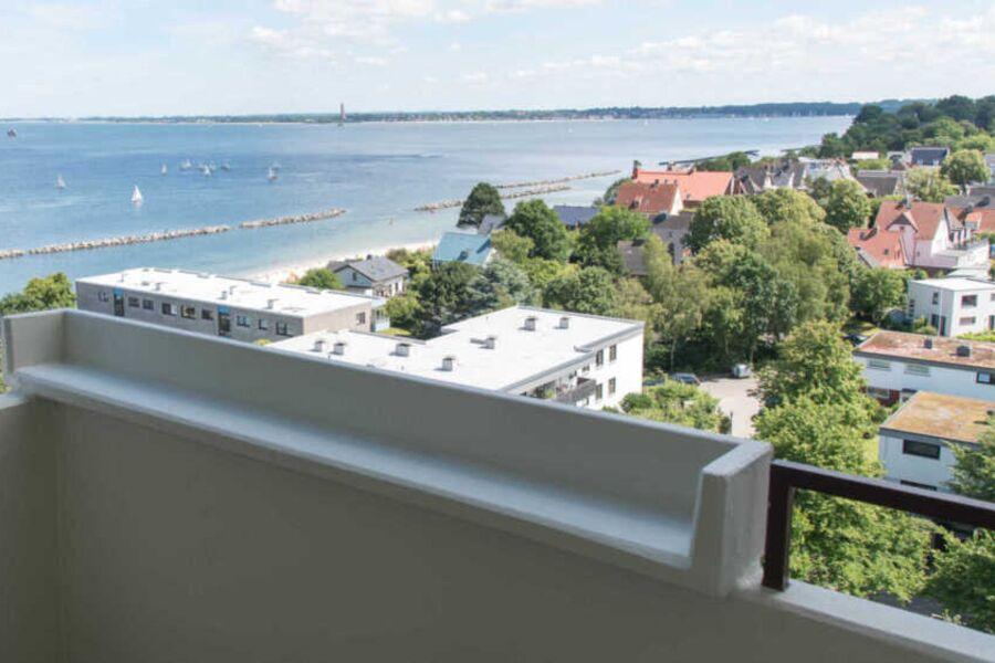 Ferienwohnung Strandblick 56 Blick vom Balkon auf