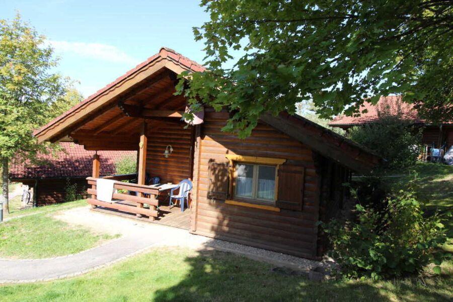 Holzblockhütte 01 Blaumeise