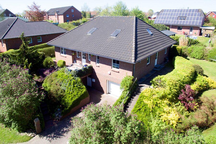 Luftbild des gesamten Hauses