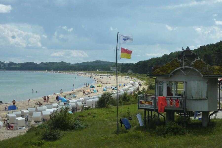 Blick über den Strand von Baabe