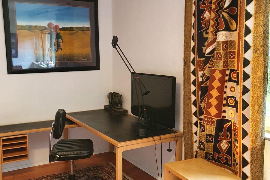Der Schreibtisch im Wohnraum