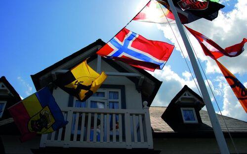 Haus Noge Sylt   Pension, 26   Ferienapartment blaue Tür