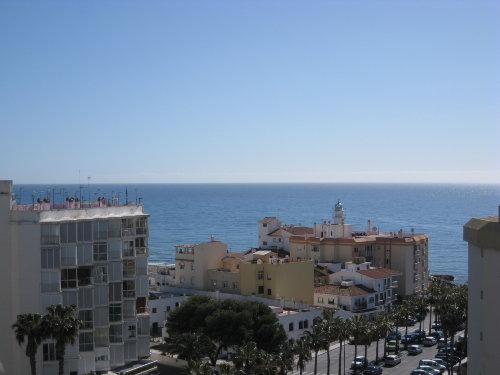 Ein Blick vom Balkon auf´s Meer