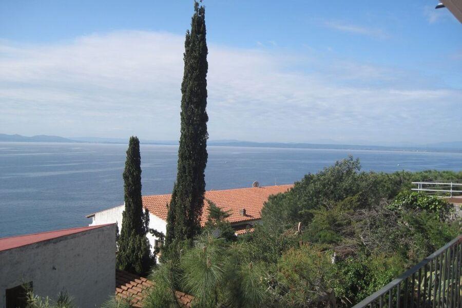Balkon Blick auf Golf nach Westen