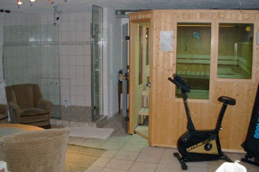 Besondere Sauna mit Lichttherapie