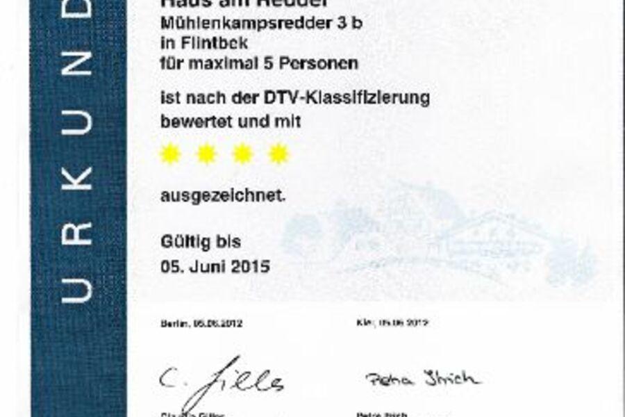 DTV-Urkunde: 4 Sterne