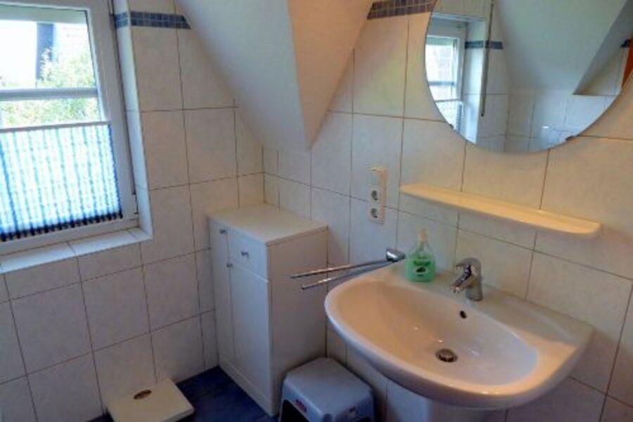 das komfortable Duschbad im Obergeschoss