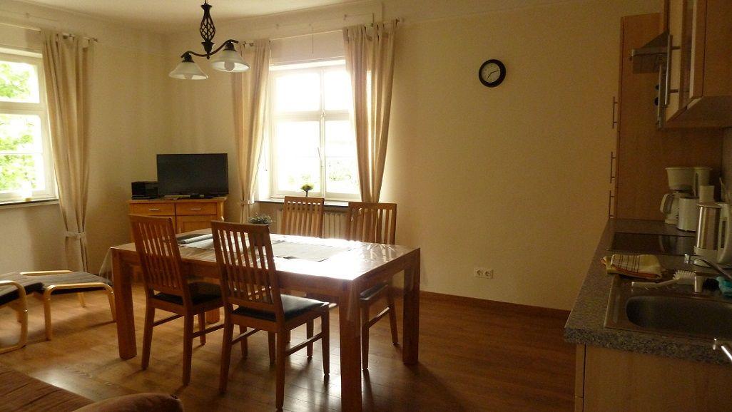 Wohnraum mit Küchenzeile & (Bett-)Couch
