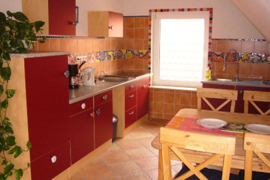 Einblick in die offene Wohnküche