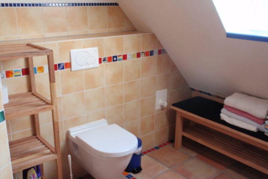 Bad mit Dusche und Dachfenster