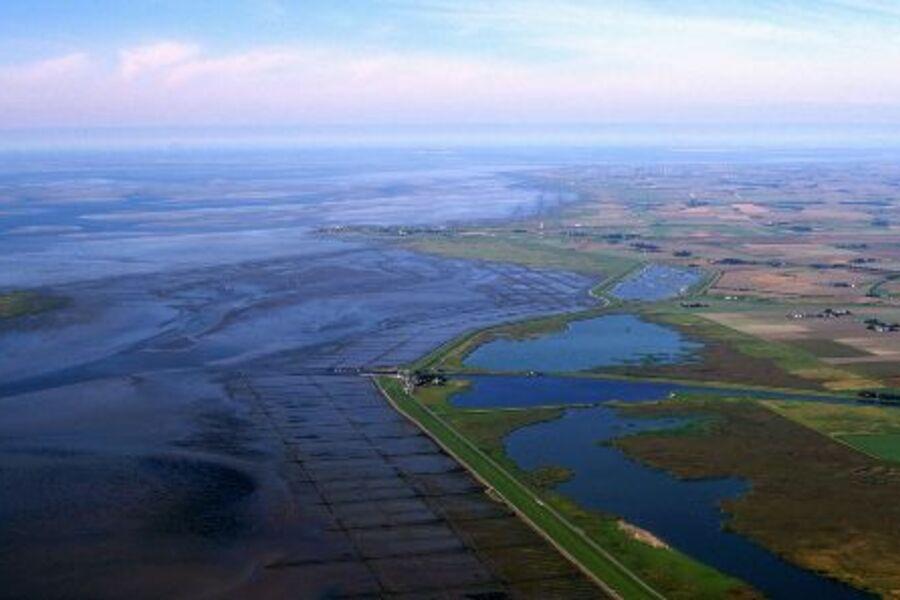 Schlüttsiel und die Küste aus der Luft
