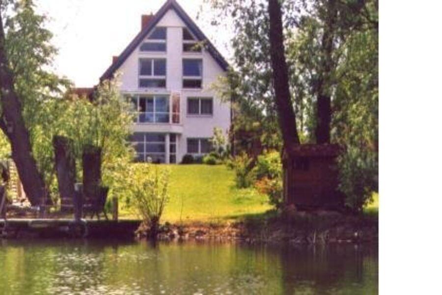 unser Haus von der Seeseite