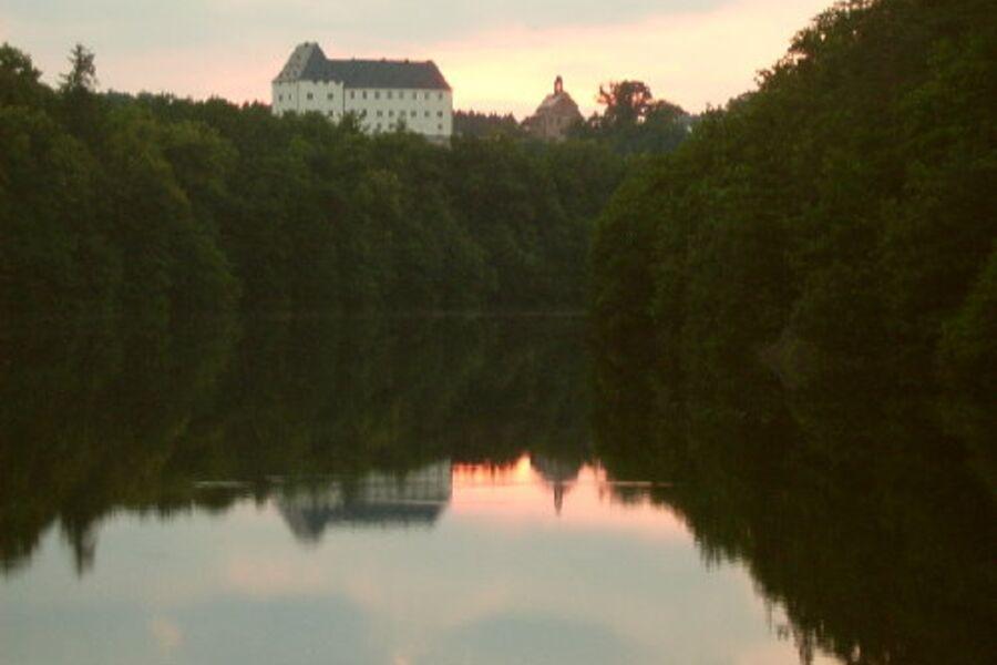 Schloss Burgk am Abend