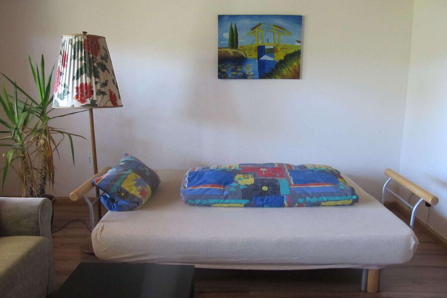 Schlafcouch im Wohnzimmer ( bei Bedarf )