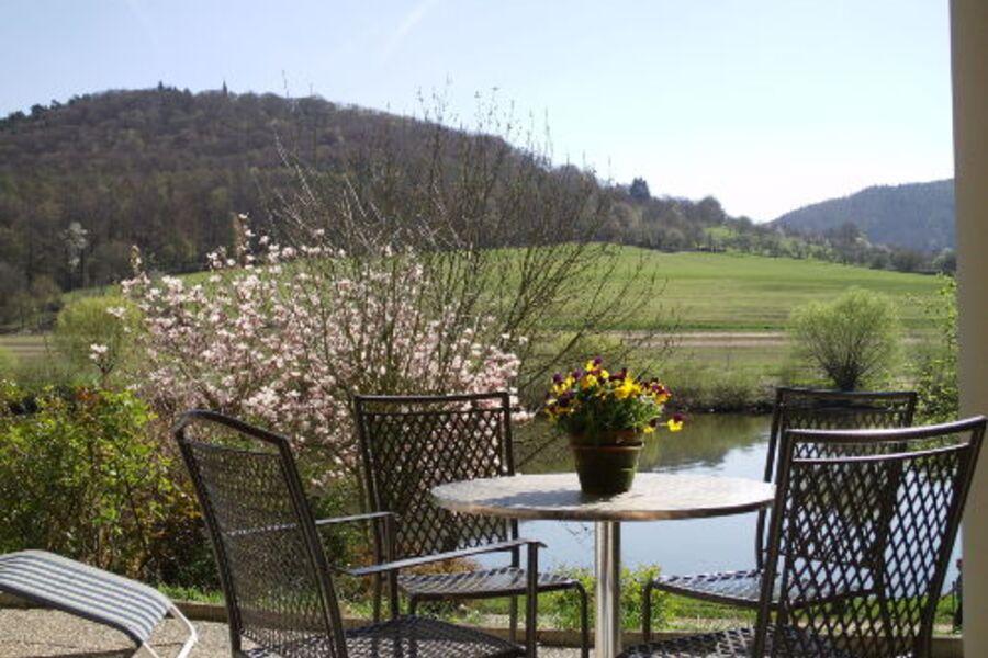Terrasse mit wunderschönem Ausblick