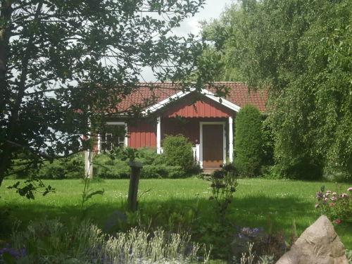 Gartenansicht mit Schwedenhaus