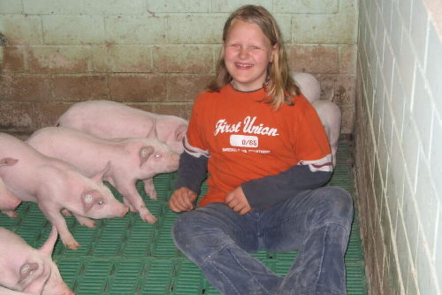 Besuch im Schweinestall
