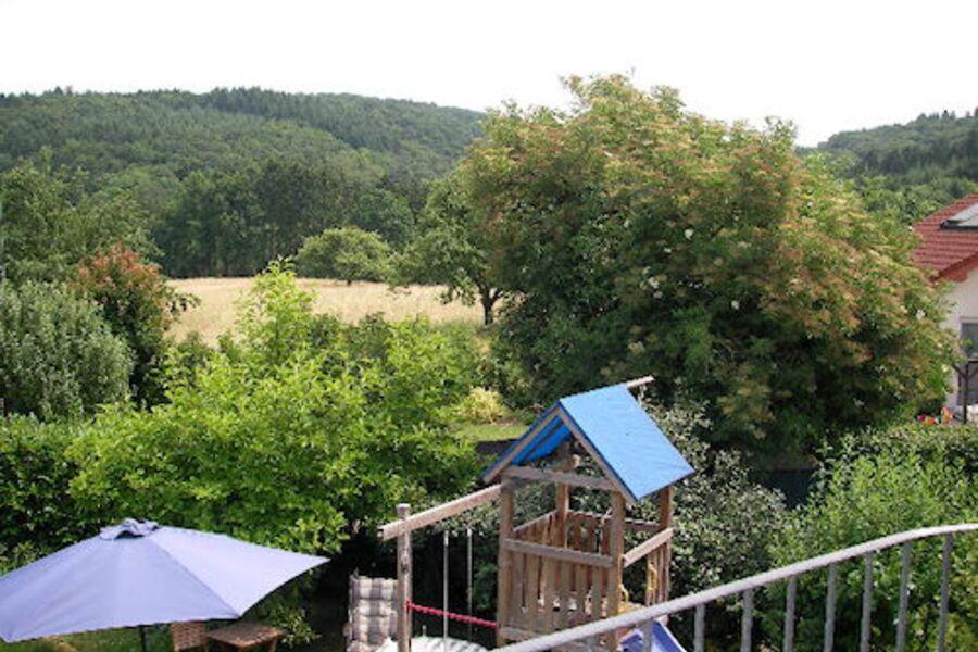 Ostbalkon mit Blick in den Westerwald