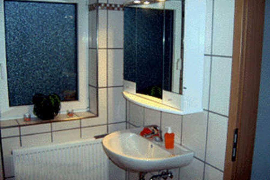 Spiegelschrank mit Stecker innen und Fön