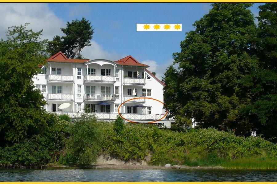 Villa Vilmblick vom Meer aus