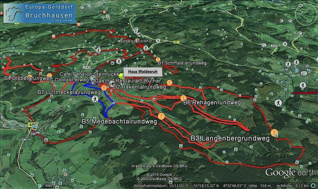 Wanderwege rund um Bruchhausen
