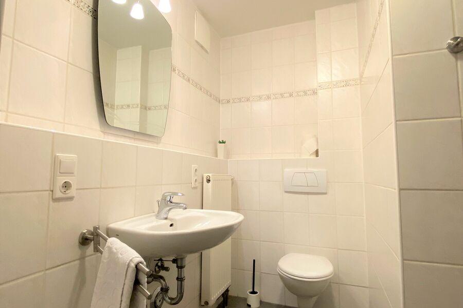 das zweite Duschbad mit WC im Dachstudio