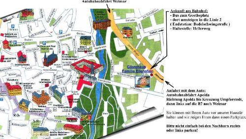 Karte Weimar Und Umgebung.Pension 18 Uber M Goethepark In Weimar Thuringen