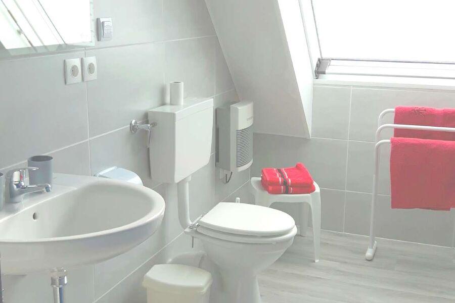 Bad mit Dusche, WC, Lavabo