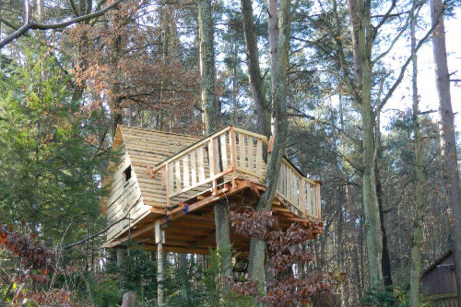 Baumhaus mit Balkon