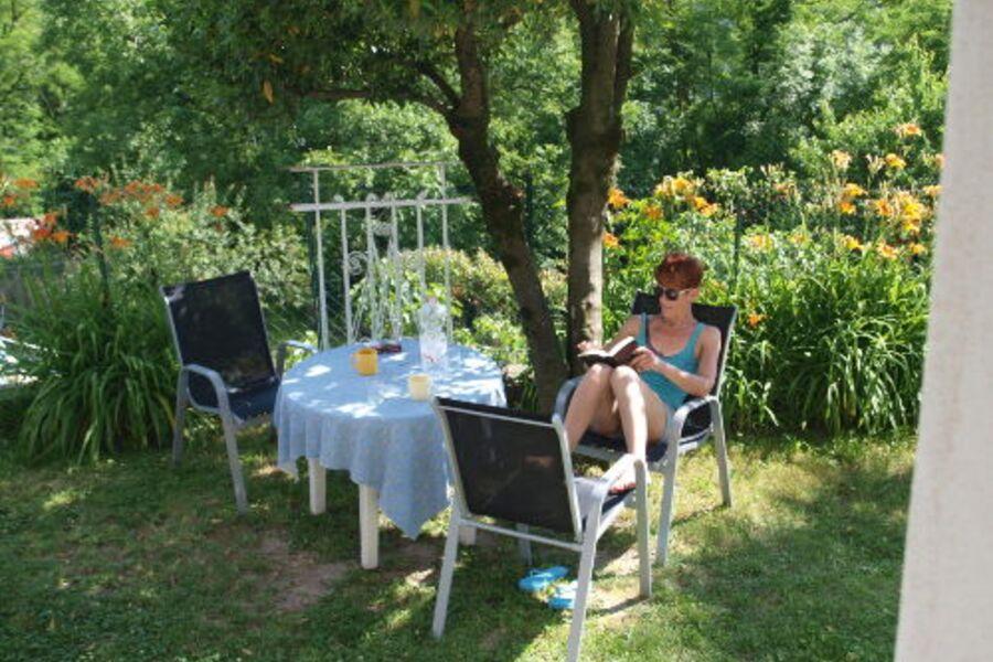 Sitzplatz vor der Küche