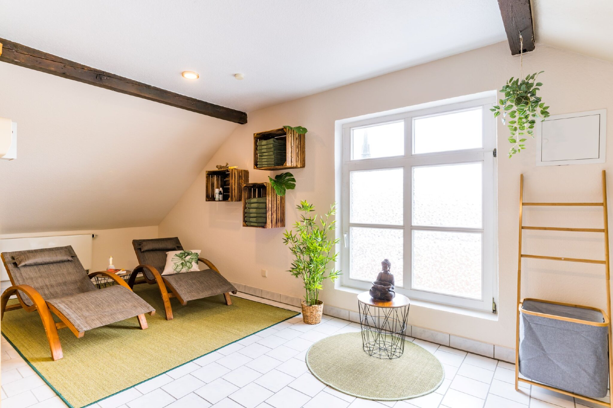 Sauna und Whirlpool im Haus