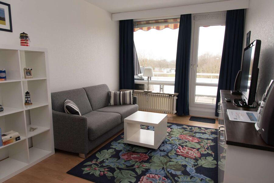 Wohn/Schlafbereich mit Balkon